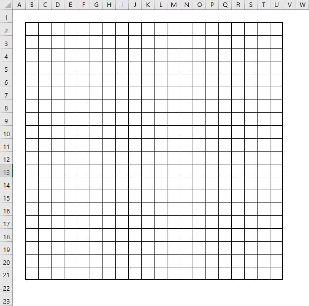 Поле игры Сапер в Excel