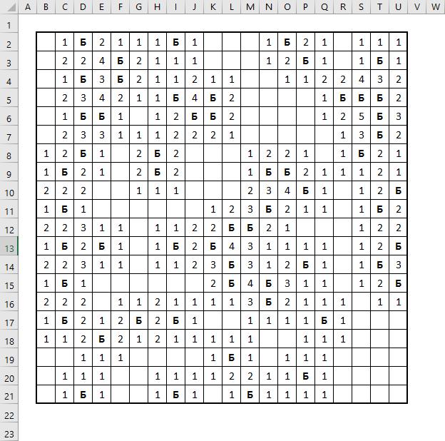 Расстановка цифр в игре Сапер в Excel